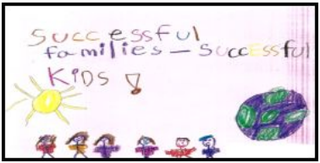 child's drawing with tagline successful families successful kids